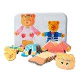 L'orso all'ingrosso veste in su il giocattolo magnetico del gioco di puzzle del puzzle