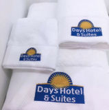 100% coton Hôtel Face Terry Serviette de bain en coton avec broderie logo