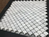 De witte 1 Marmeren Mozaïek Opgepoetste Tegel van de ventilator ''