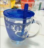 Vetro glassato con la cristalleria floreale Sdy-F00409 della tazza di birra della decalcomania