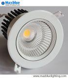 Hotel Lighting 15/24/38/60 grados del ángulo del haz COB Downlight LED