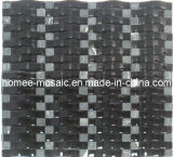Tuile en verre onduleuse noire de cuisine de Backsplash de tuile