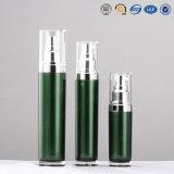 botella cosmética de lujo de acrílico plástica de plata oval de 15ml 30ml 50ml 120ml