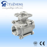 Q11f Stainless Steel Thread 3PC Ball Valve