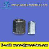 Porca de acoplamento Hex longa da porca DIN6334 da linha do conetor do aço inoxidável dos prendedores M8 da alta qualidade