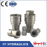 Acoplamento rápido hidráulico do encaixe de mangueira SS304 316