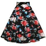 O vintage inspirou saias florais Alice do partido das senhoras o mais tarde impressa