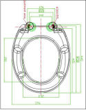 Tampa de toalete impressa do Urea teste padrão diferente padrão