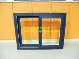 Finestra di scivolamento di alluminio per il cliente caraibico, fabbrica orizzontale di alluminio professionale della finestra di scivolamento della Cina