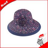 リボンのフロッピーダービーのバケツの女性の帽子