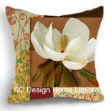 Классический квадратных Magnolia Дизайн ткань подушка с заполнением