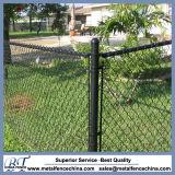 PVC y cerca galvanizada del patio del alambre de la conexión de cadena