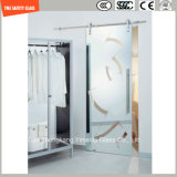 o espaço livre e o teste padrão da segurança de 4-19mm lisos/dobraram Tempered/vidro temperado para a porta/tela do banheiro/chuveiro/divisória com certificado de SGCC/Ce&CCC&ISO
