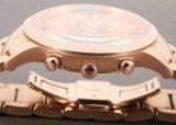 Вахта классических людей кварца хронографа глаза способа 3 Nouveau Riche дела браслета золота Rose вахты золота роскошных