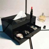 Schwarze Verfassungs-Speicher-Luxuxfächer für Schmucksache-Kosmetik-Speicher