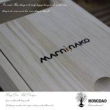 Hongdao Wedding Day Custom Logo Caja de madera del álbum de foto con el embalaje del USB para el regalo _E