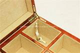 높은 광택 래커 8 슬롯 마디 나무로 되는 시계 저장 상자