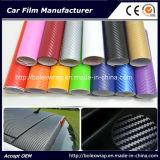 Самоклеящаяся виниловая пленка из углеродного волокна 3D-Car Wrap / наклейки 1,52 X30m с воздух прозрачный купол