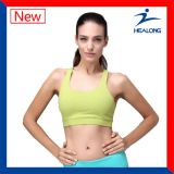 A cor pura de Healong ostenta os sutiãs 100% Running da aptidão das senhoras do algodão do fato da engrenagem para a venda