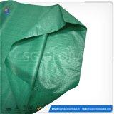 sacs 50kg tissés par pp verts pour l'empaquetage de graines