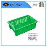Caixa plástica Stackable empilhada reversível da modificação 37# para com da fábrica/sem tampa