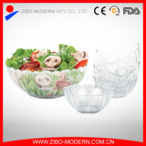 7PC Cheap Fancy bol à salade en verre coloré décoratif