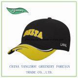 Nuevo negro de la manera y gorra de béisbol del bordado de Yellow3d