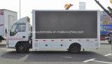 Isuzu 4X2 Publicidad móvil de 190 HP del vehículo camión de la pantalla LED de exterior