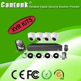 4 Kanal-komplette Ausgangs-CCTV-Installationssätze