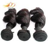 緩い波8Aの高品質の毛を編む加工されていないビルマのバージンの人間の毛髪