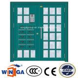 大きい二重サイズの電気機密保護の鋼鉄ガラスドア(W-GD-25)
