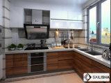 UV Vaneer الحديثة الرئيسية أثاث الفندق جزيرة الخشب مطبخ مجلس الوزراء