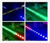 RGB 3in1 18 X3w LEDの壁の洗濯機連続したカラー効果の壁の洗濯機の12PCSはLEDの壁ランプを防水する