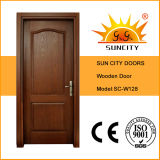 Porta de madeira sólida para uso no escritório, porta de madeira de carvalho