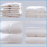 Oferta de lujo de alta calidad de color blanco cálido hotel de plumón de pato/colcha edredón