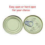 Le disque ouvert et facile d'ouvrir 210g de pâte de tomate en conserve