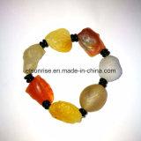 Bracelete de cristal de carnelia de pedras preciosas naturais