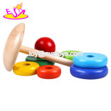 赤ん坊W13D179のためのおもちゃをスタックする上の販売のMontessoriの木の虹