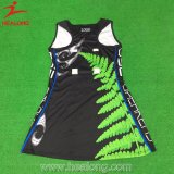 Healong Marken-Firmenzeichen-Sport-Abnützung-Sublimation-Damennetball-Kleider für Verkauf