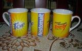 Custom Straight-Type 11oz céramique/grès de l'impression de l'autocollant promotionnel Nestomalt tasse à café/Mug (WSY142M)