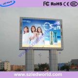 Pantalla LED de exterior de 8mm Tablero de control Pantalla con la instalación de postes Dobule para publicidad
