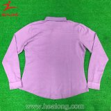 Healong Top venta normal de tinte de ropa deportiva POLO MANGA LARGA