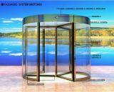 Königliche automatische GlasDrehtür mit Goldfarbe