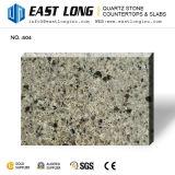 Lajes artificiais da pedra de quartzo da cor do granito para bancadas com material de construção/superfície contínua