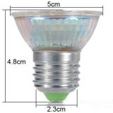 L'endroit d'E14 E27 MR16 B22 GU10 5W DEL allume les ampoules en verre du plastique DEL des puces 5050SMD de 29PCS DEL