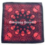 Soem-Erzeugnis passte Firmenzeichen-Land-Markierungsfahnen-gedruckten fördernden Baumwollkopf-Schal an