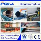 Macchina calda di pulizia di granigliatura della superficie del tubo d'acciaio del trasportatore a rulli di vendita 2017 (QGW)