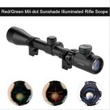 3-9X40eg Red Green Illuminated Laser Hunting Rifle Scope Vista Mil-DOT Reticular
