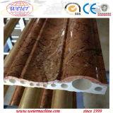 Chaîne de production en pierre en plastique de marbre artificielle de profil de PVC