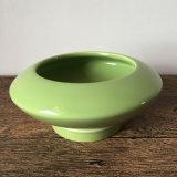 Piccolo POT di ceramica succulente bianco con il piattino